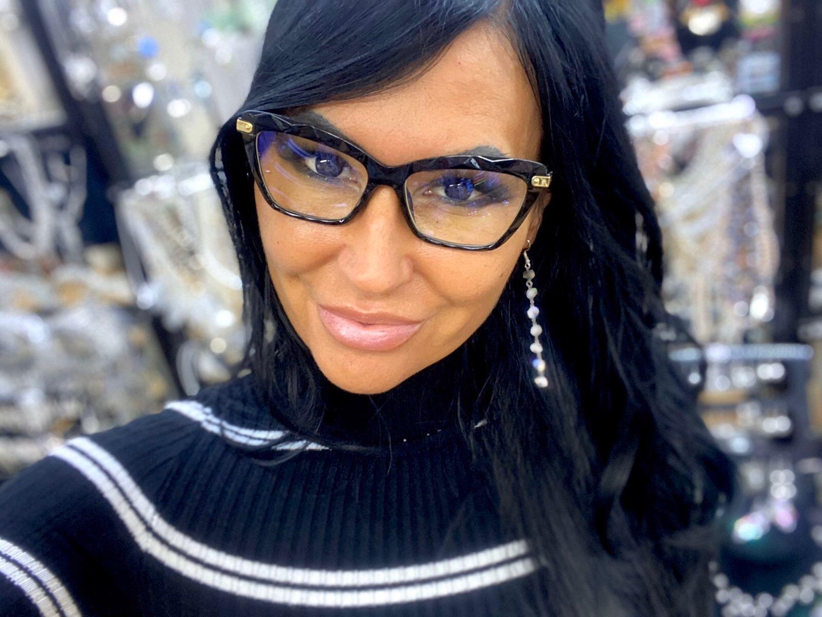 Diamond fekete cica fazonú divatszemüveg nőknek