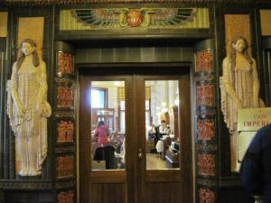 Art Noveau doors to Imperial cafe' Prague