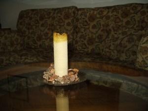 Xmas Decoration Honeycomb Candle from Prague Christmas market