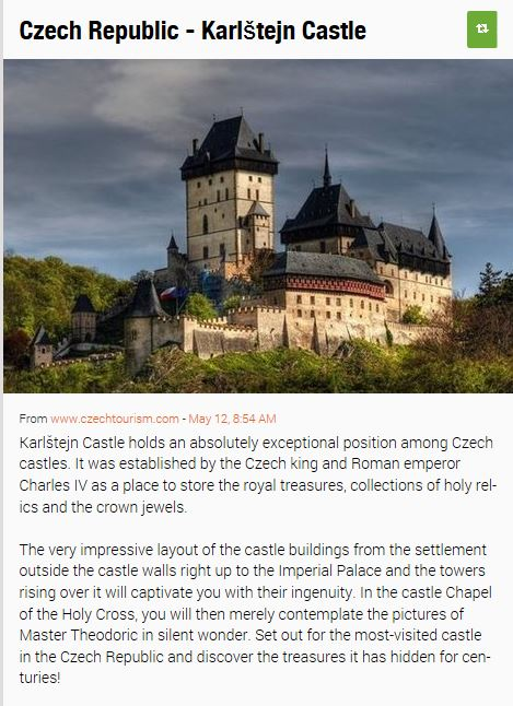 Karlstein Castle, Czech