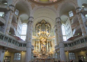 interior of Frauen Church, Dresden