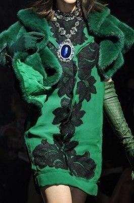 PAROTISE GREEN WINTER DRESS