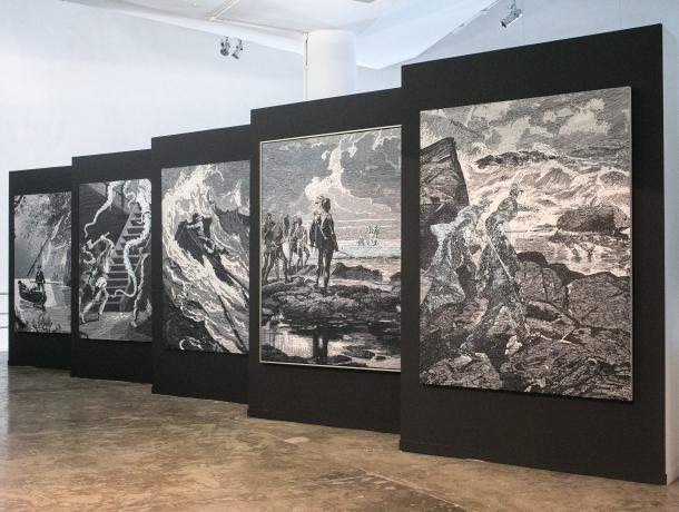 Obra da exposição 'Da Cartografia do Poder aos Itinerários do Saber' Daniel Teixeira/Estadão