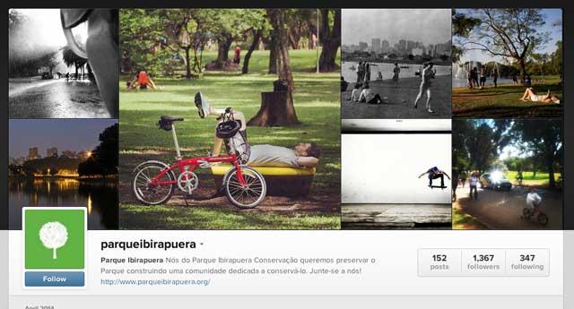 Instragram do Parque Ibirapuera Conservação