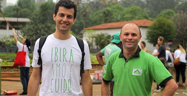 Thobias da Conservação com Jorge Feijão, da Leroy Merlin Ricardo Jafet.