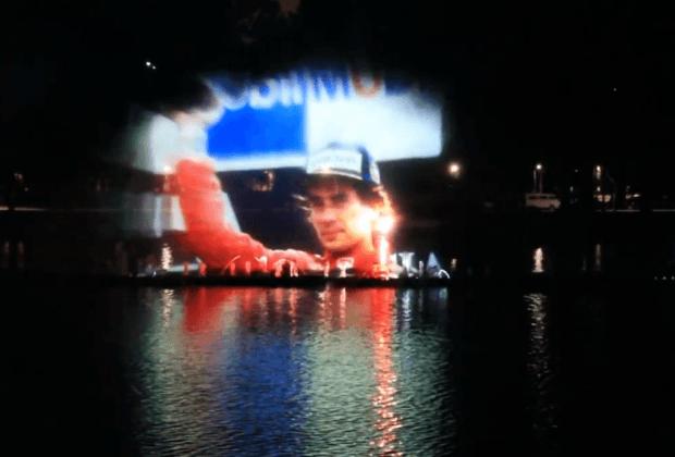 Exibição em homenagem aos 21 anos do legado de Ayrton Senna na Fonte Luminosa do Parque Ibirapuera