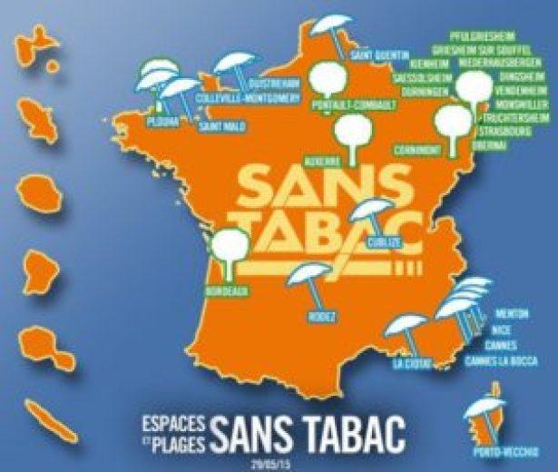 Praias francesas onde fumar é proibido (fonte: http://www.normandie-actu.fr/)