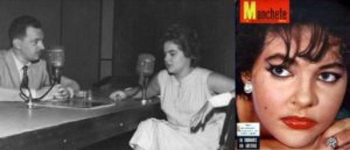 Duas fotos de Maysa da década de 1950.