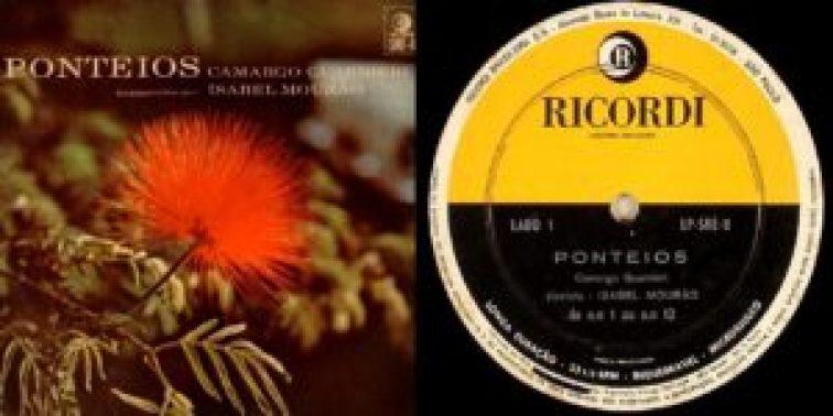 Capa e selo de um dos LPs com a primeira gravação integral (1961), pela pianista Isabel Mourão, dos 50 Ponteios de Camargo Guarnieri.