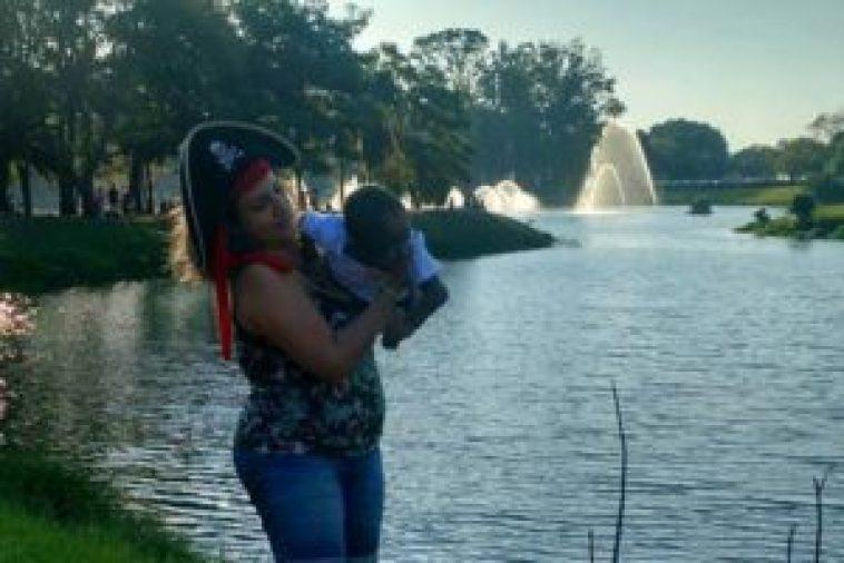 Manu e Lela Albuquerque no Parque Ibirapuera. Foto: Rosania Moreira Lima.