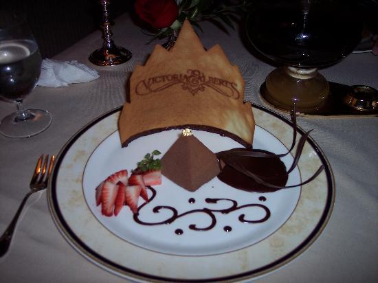 Chocolate Mousse dessert - Victoria & Albert's, Orlando