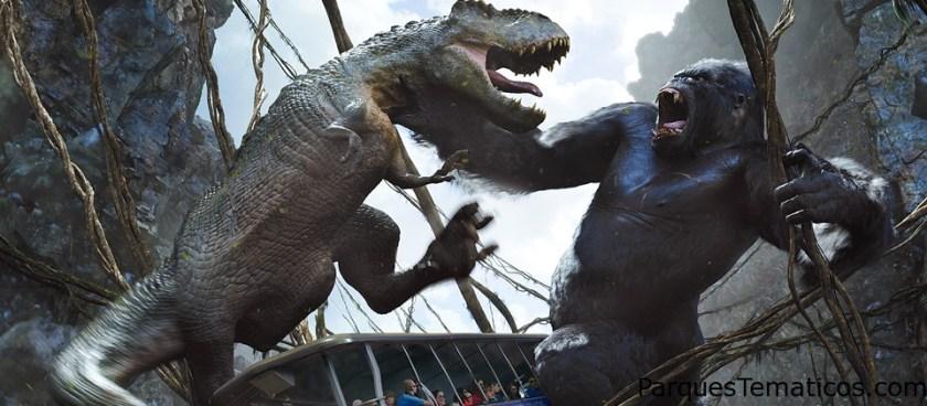 King Kong 360 3-D en el Studio Tour