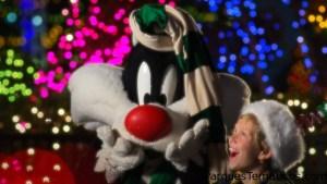 Looney Tunes en Six Flags México festejando la Navidad