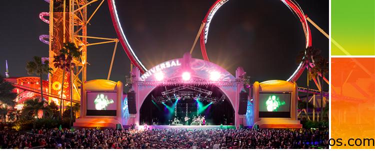 Conciertos del 25 aniversario de Universal Orlando, con shows musicales