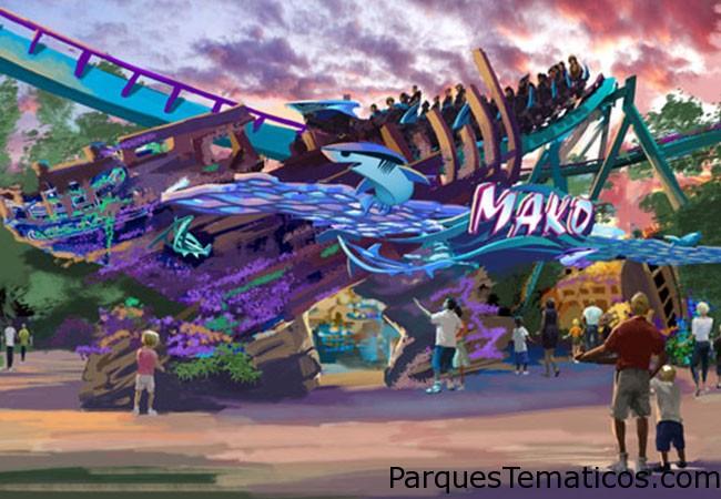 SeaWorld Orlando anunció planes para Mako , una abertura de montaña a estrenar de 200 pies de altura en el verano de 2016. El nombre por uno de los tiburones más rápidos conocidos del océano , será más alto , más rápido , y la montaña rusa más larga de Orlando , que alcanzan una velocidad de 73 mph como carreras a lo largo de 4,760 pies de la pista de acero . Nueva hypercoaster de SeaWorld será la pieza central de la nueva temática de plaza de dos acres . El reino que rodea será totalmente tiburón temático, ofreciendo a sus clientes la oportunidad de aprender acerca de los seres humanos de impacto tiene sobre los tiburones y por qué estos animales son fundamentales para el medio ambiente.