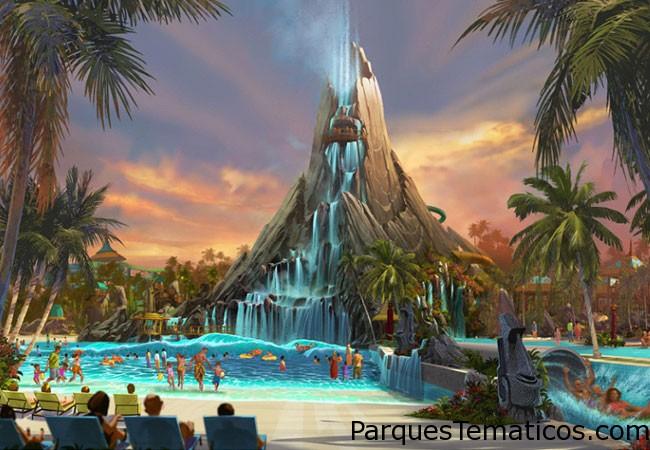 Universal Orlando Resort anunció planes para una apertura del parque de agua en 2017 , llamado Volcán Bay en Universal Orlando Resort . El parque acuático ofrecerá , emocionantes atracciones innovadoras , momentos pacíficos de la relajación y una experiencia completamente nueva de invitados. Se planea un entorno altamente temático, completamente inmersiva , inspirado en las islas tropicales postal perfecta . El nuevo parque se encuentra dentro de Universal Orlando Resort, justo al sur de la Cabana Bay Beach Resort .