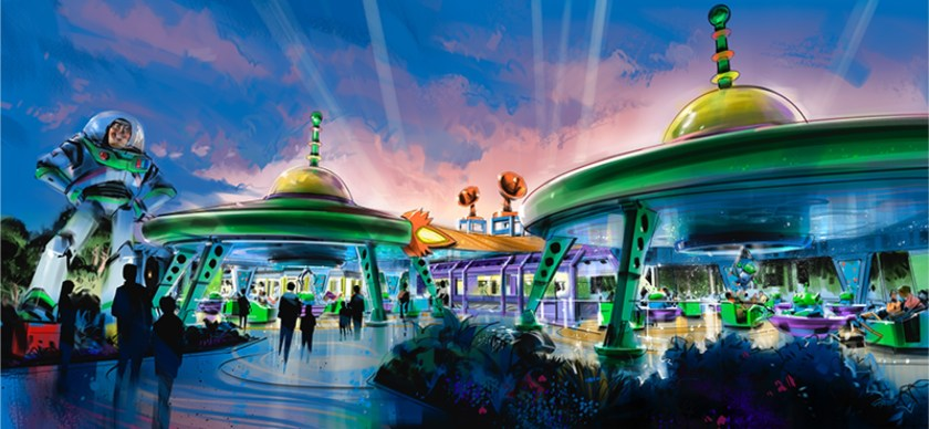 Toy Story Land will be Alien Swirling Saucers