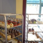 Opciones de manzanas y otras delicias con formas de mickey