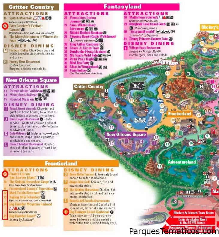 Atracciones, Juegos y Shows cerrados en Disney World Orlando