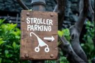 Para estacionar el cochecito, cariola, o stroller