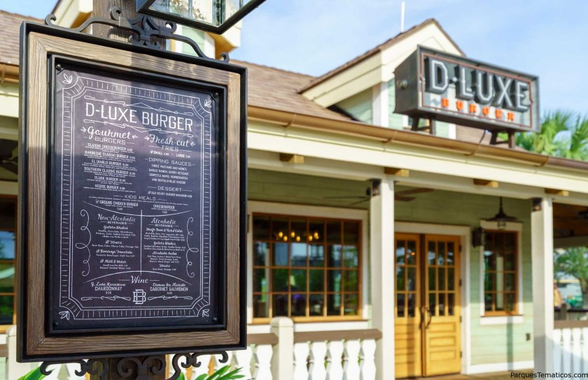 D-Luxe Burguer y su menú