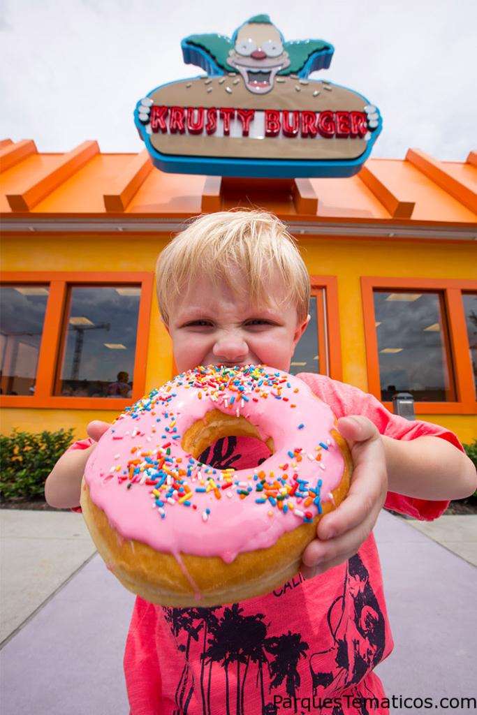 Big Pink Donut at Lard Lad Donuts in Universal Studios Florida
