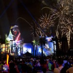En Hollywood Studios por las noches los fuegos artificiales de Star Wars