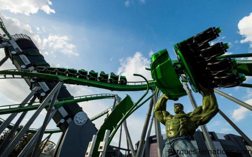 Datos técnicos de la nueva montaña rusa The Incredible Hulk Coaster's