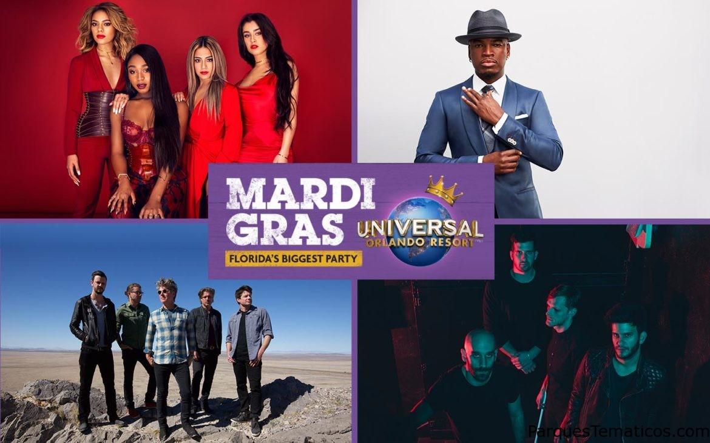 Conciertos de Mardi Gras 2017 son anunciados en Universal Orlando