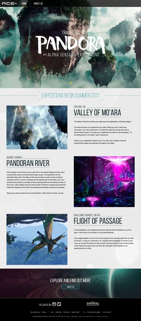 VisitPandora.com, Tu Portal a Pandora, El Mundo de Avatar