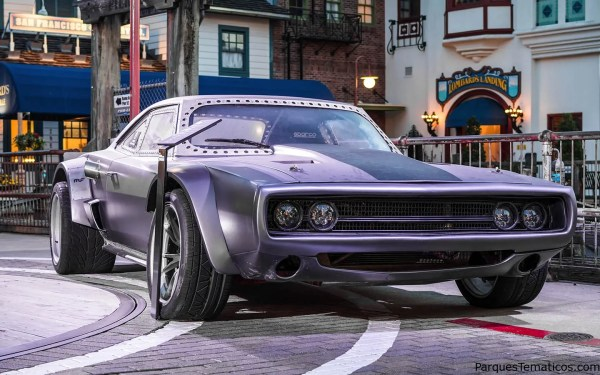 Get your pic next to Dom (Vin Diesel)'s Ice Charger, a 1970 Dodge Charger with a high-speed Hellcat V8 engine.
