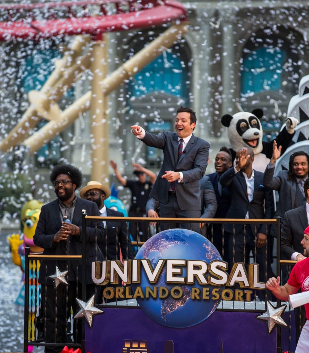Jimmy Fallon celebró en Universal Studios la inauguración de su atracción
