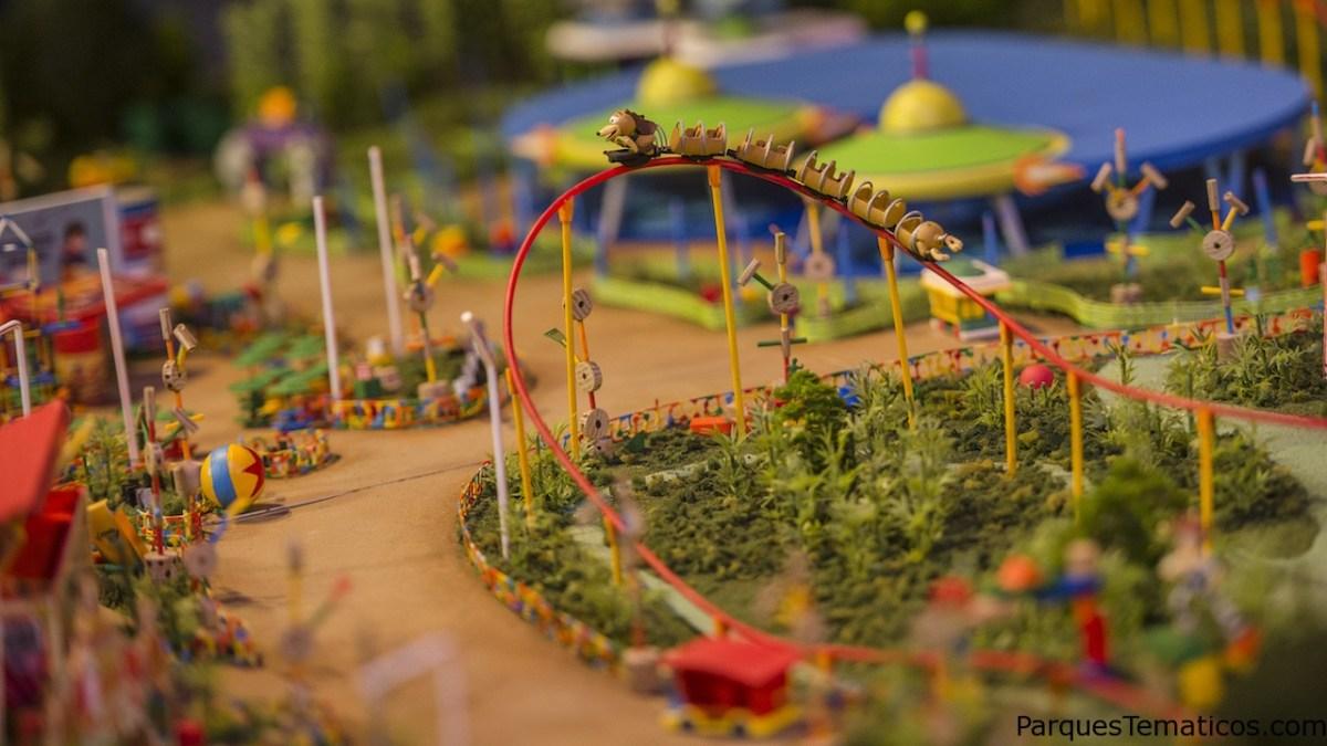 La maqueta en exclusiva de la nueva Tierra de Toy Story Land