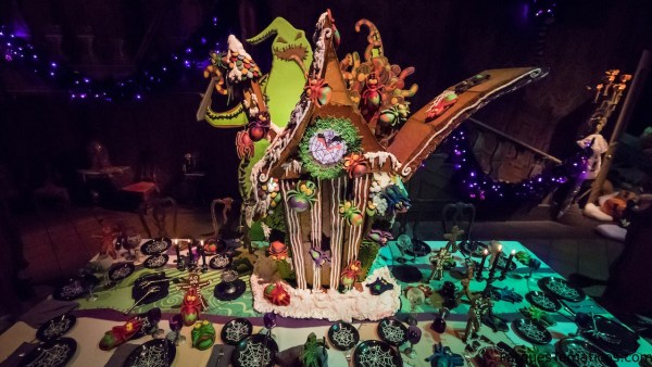 2017 Haunted Mansion Holiday Gingerbread House at Disneyland Park