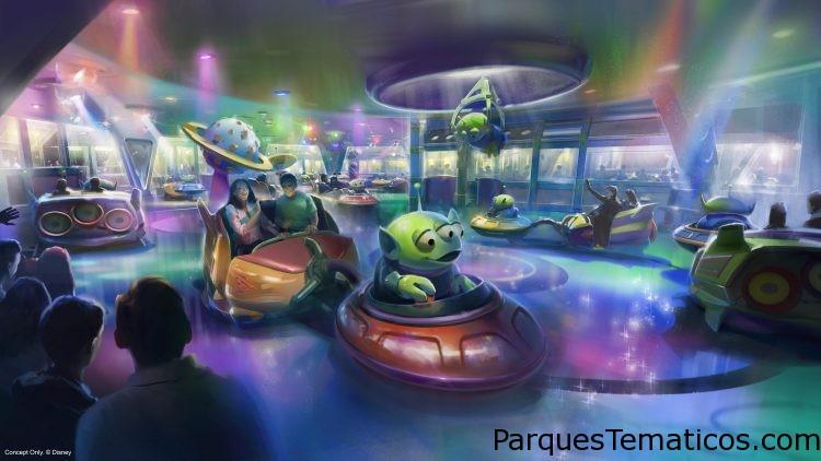 Alien Swirling Saucers