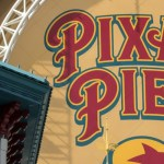 PIXAR PIER AT DISNEY CALIFORNIA ADVENTURE PARK (ANAHEIM, Calif.) – The wonderful worlds of Pixar come to life when the newly reimagined land of Pixar Pier opens at Disney California Adventure Park on June 23, 2018. A bright, new Pixar Pier logo appears on the Incredicoaster, beckoning guests to the land. At Pixar Pier, guests will experience new neighborhoods inspired by beloved Pixar stories; Incredibles Park, Toy Story Boardwalk, Pixar Promenade and Inside Out Headquarters that feature attractions, entertainment and delicious food offerings. (Joshua Sudock/Disneyland Resort)