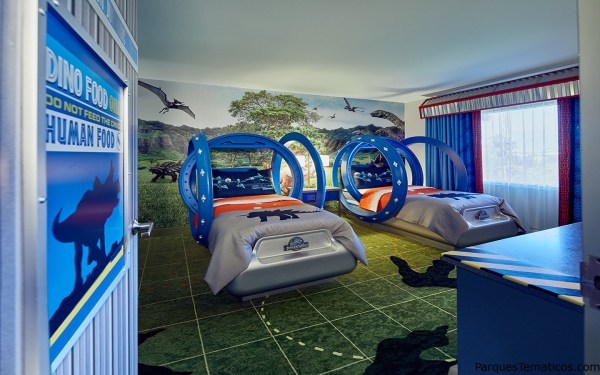 Nuevas suites Jurassic World para niños disponibles en Loews Royal Pacific Resort