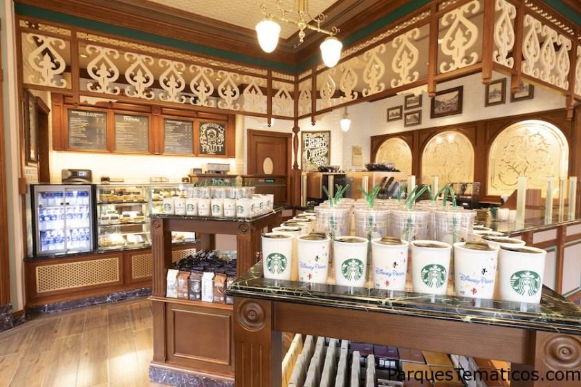 Primera tienda de Starbucks en Hong Kong Disneyland ahora abierta