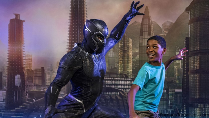 Marvel Super Heroes like Black Panther are onboard for heroic encounters during Marvel Day at Sea. The event features all-day entertainment celebrating the renowned comics, films and animated series of the Marvel Universe. (Matt Stroshane, photographer)