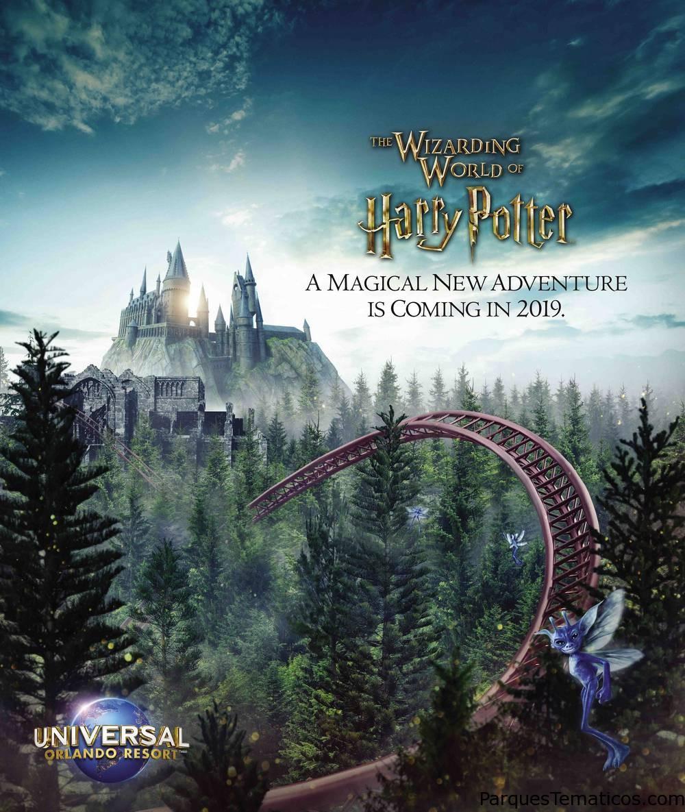 Universal Orlando presenta la nueva montaña rusa de Harry Potter