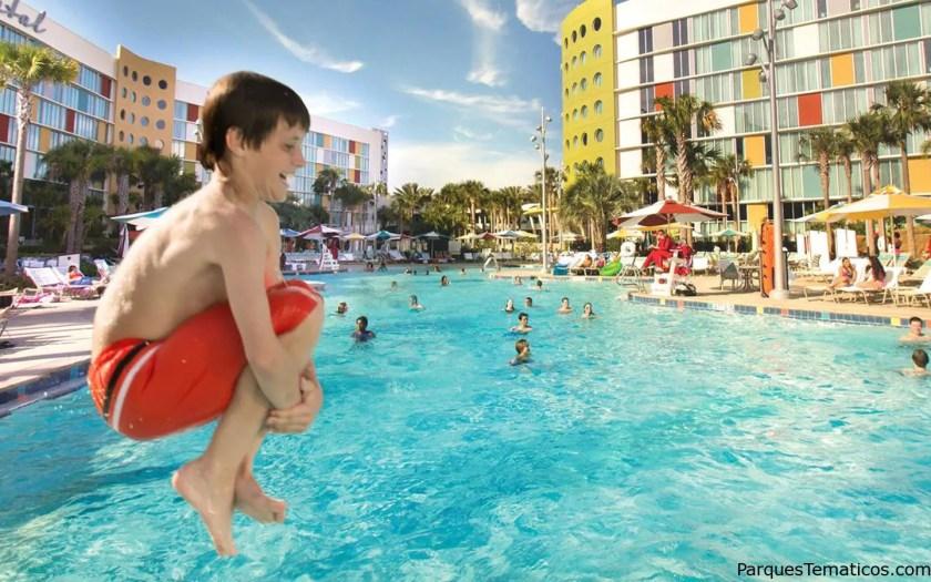 10. Relájate en Universal's Cabana Bay Beach Resort