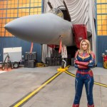 Captain Marvel encounters guests at Hangar 12 in Disney California Adventure Park, inspiring them to go Higher, Further, Faster, as her jet fighter is being readied for a special mission. Disney California Adventure Park is located in Anaheim, California