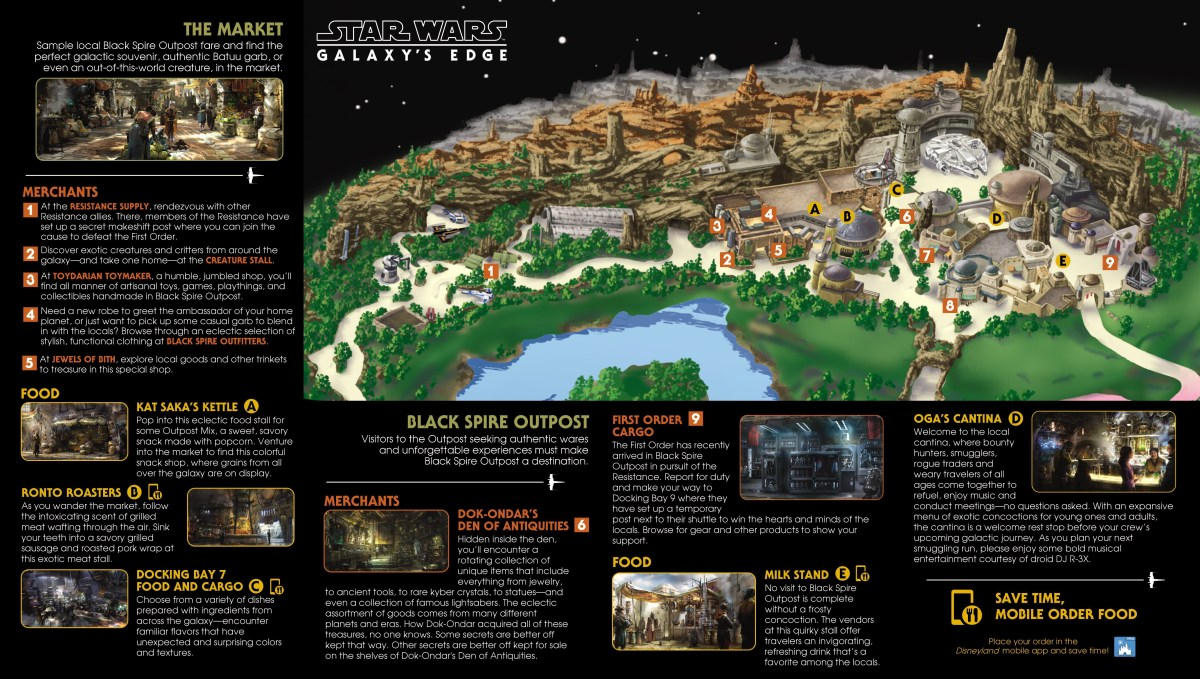 Mapas Star Wars: Galaxy's Edge Orlando