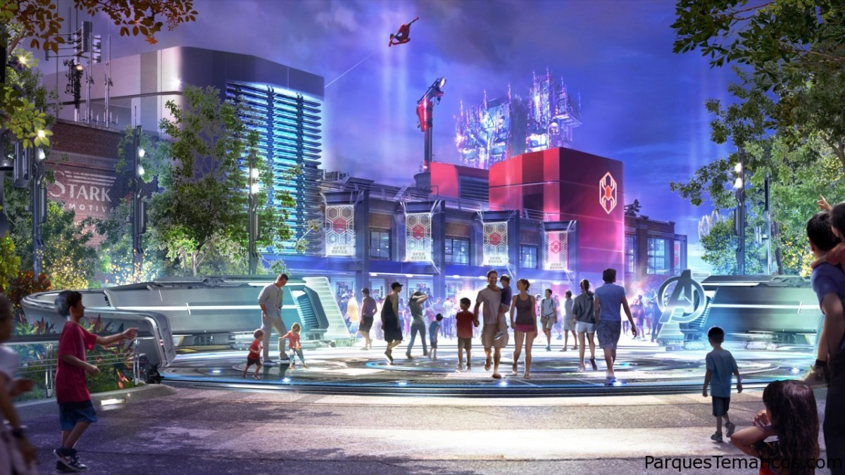MARVEL Superhero Land en Disney California Adventure