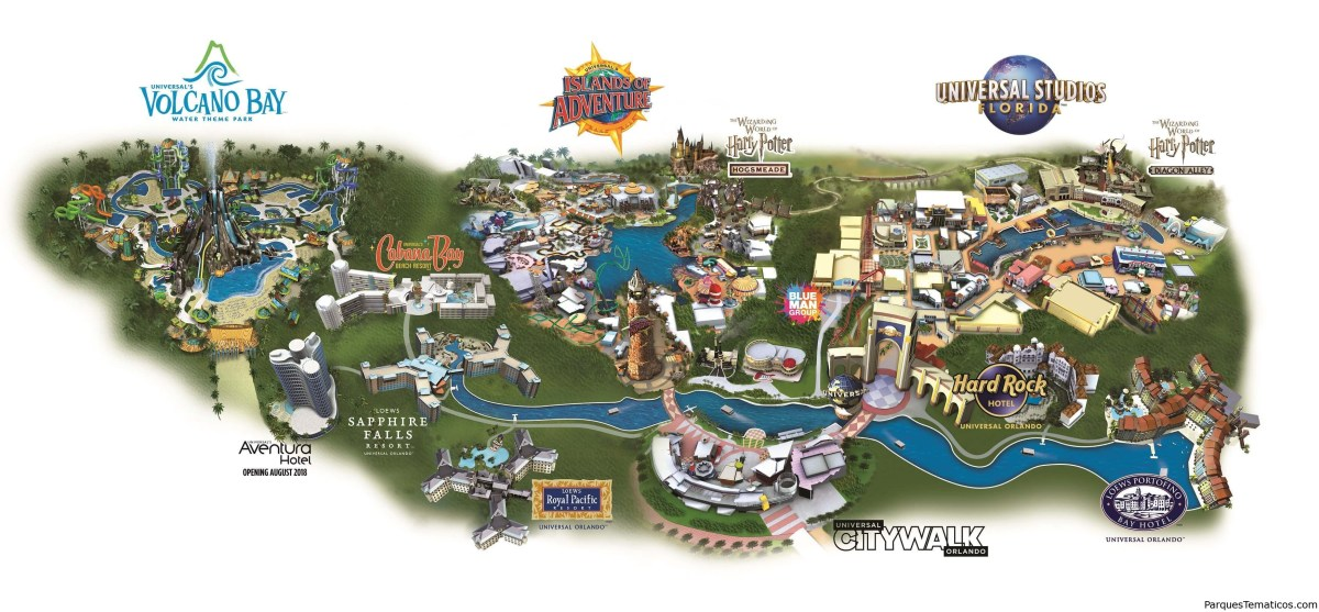 Mapas de Universal Orlando Resort