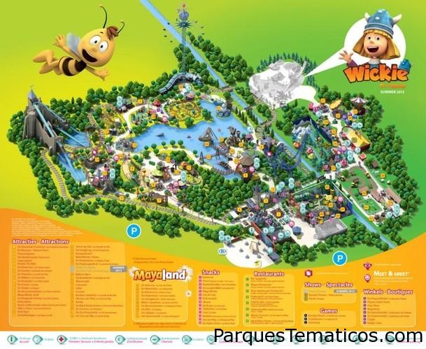 Mapas del parque Plopsaland De Panne