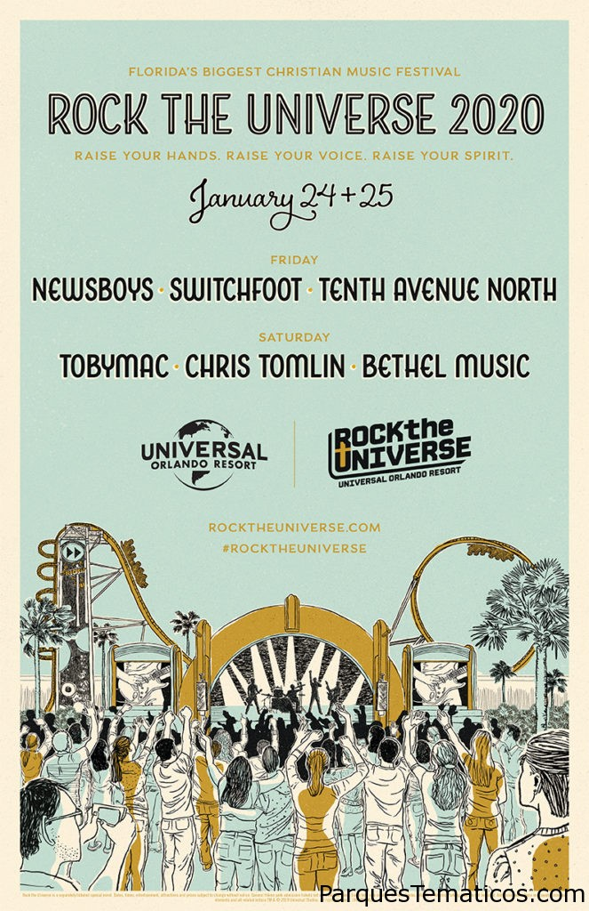 TobyMac Chris Tomlin Newsboys y Switchfoot encabezarán Rock the Universe 2020