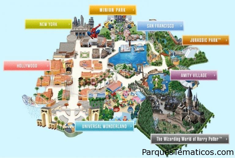 Mapa completo de Universal Studios Japan para descargar download