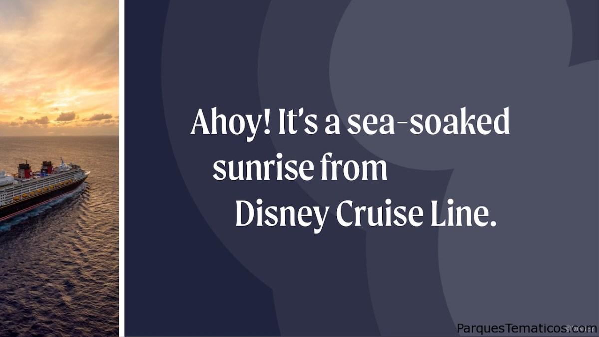 Comience su día con impresionantes amaneceres en el océano de Disney Cruise Line
