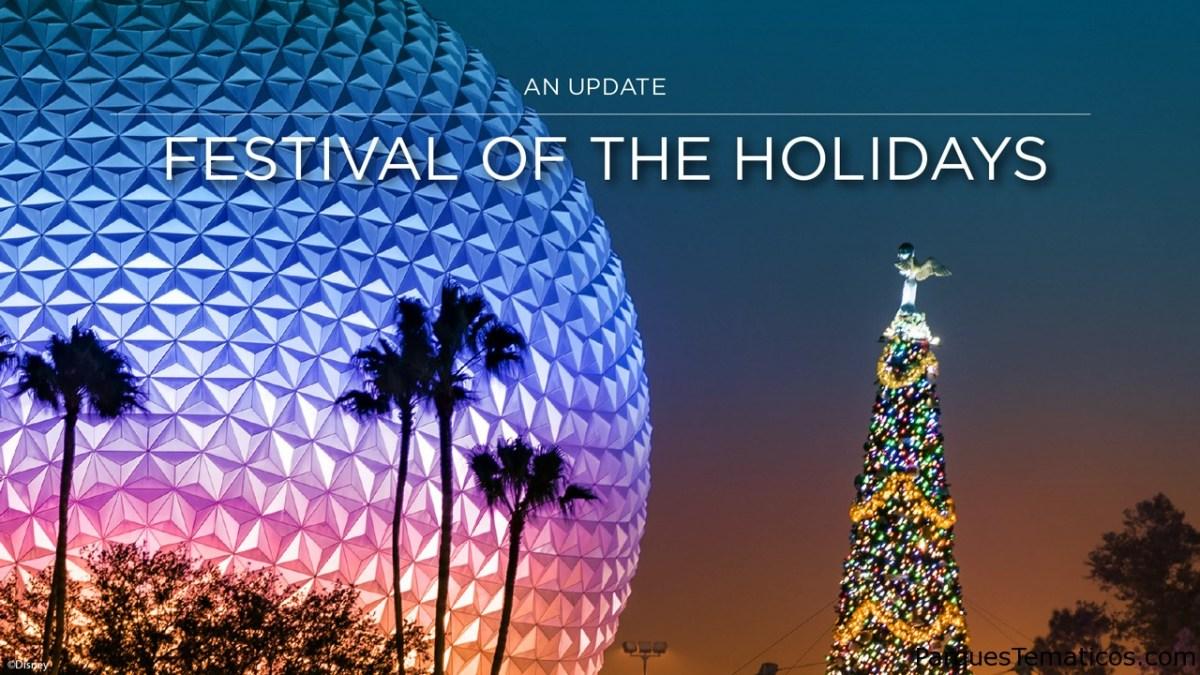 Celebre con el sabor de EPCOT International Festival of the Holidays del 27 de noviembre al 27 de diciembre 2020